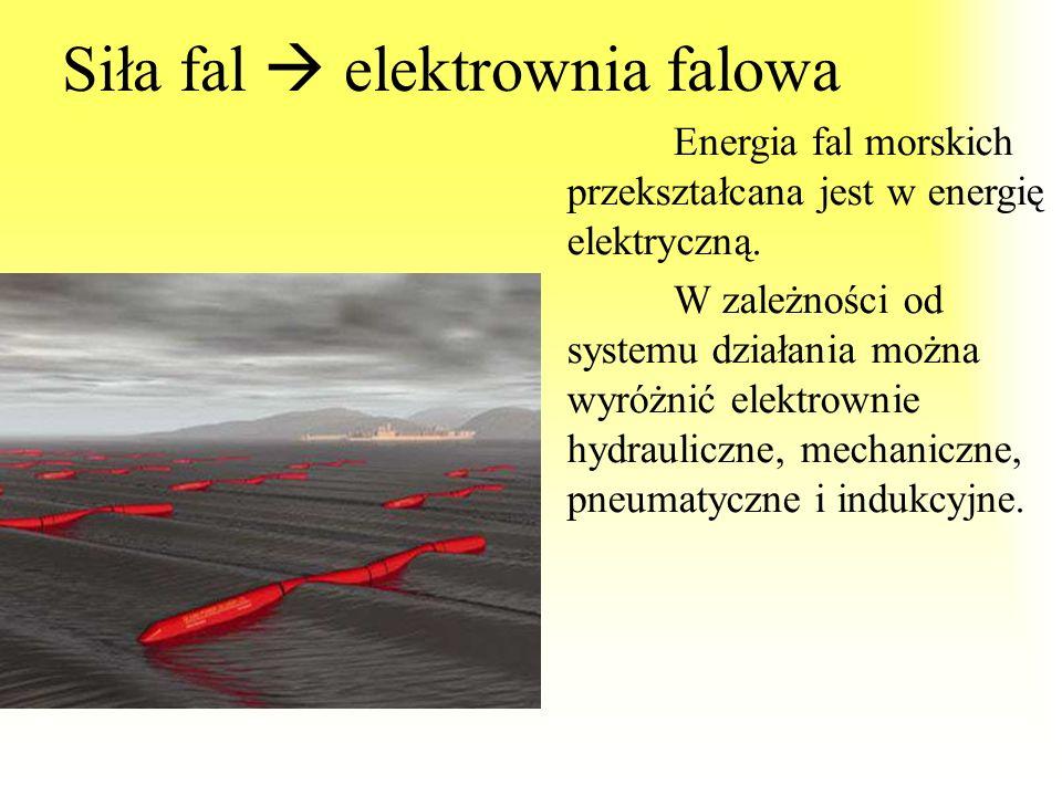 Siła fal  elektrownia falowa