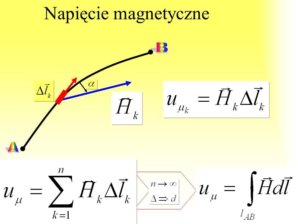 Napięcie magnetyczne A B