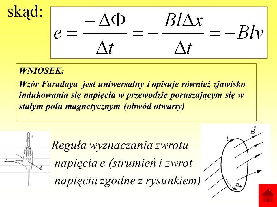 skąd: Reguła wyznaczania zwrotu napięcia e (strumień i zwrot