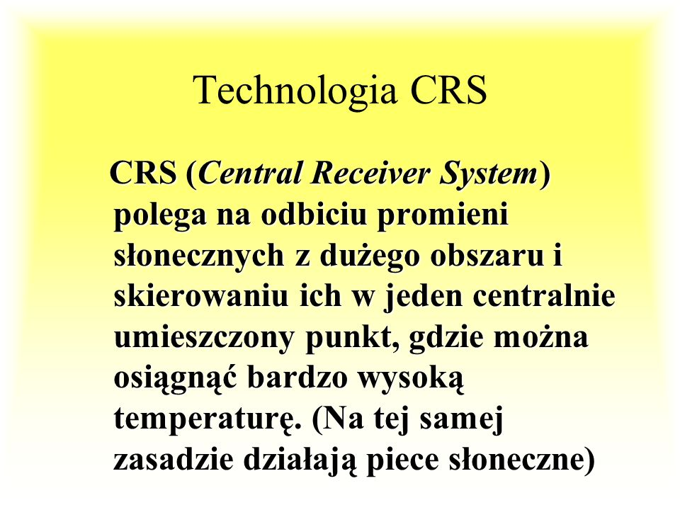 Technologia CRS