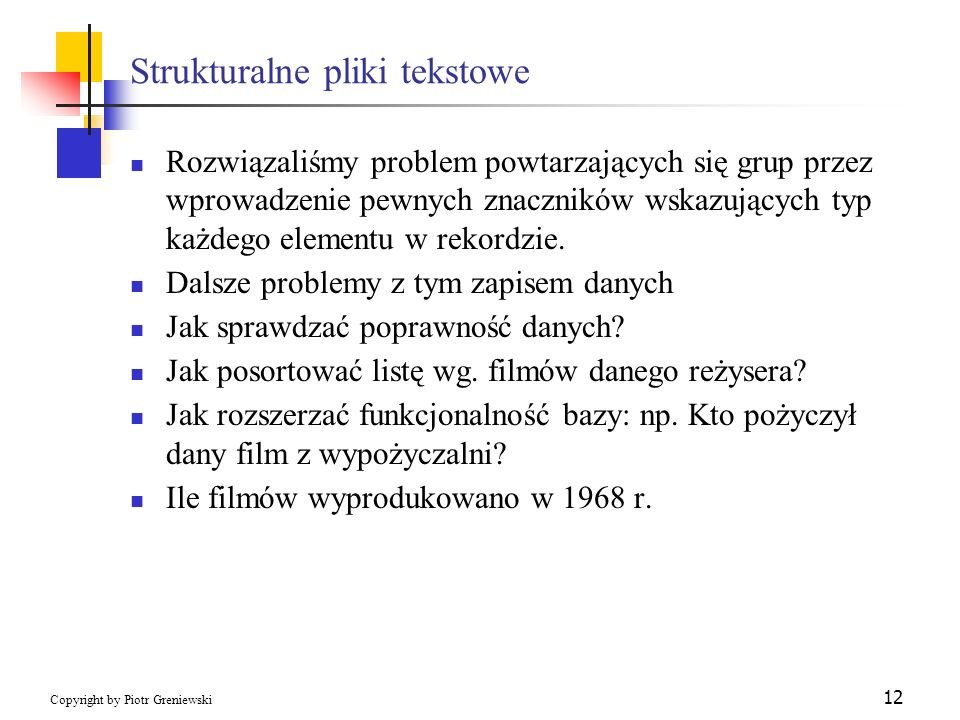 Strukturalne pliki tekstowe