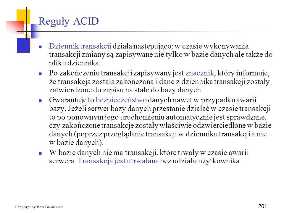 Reguły ACID