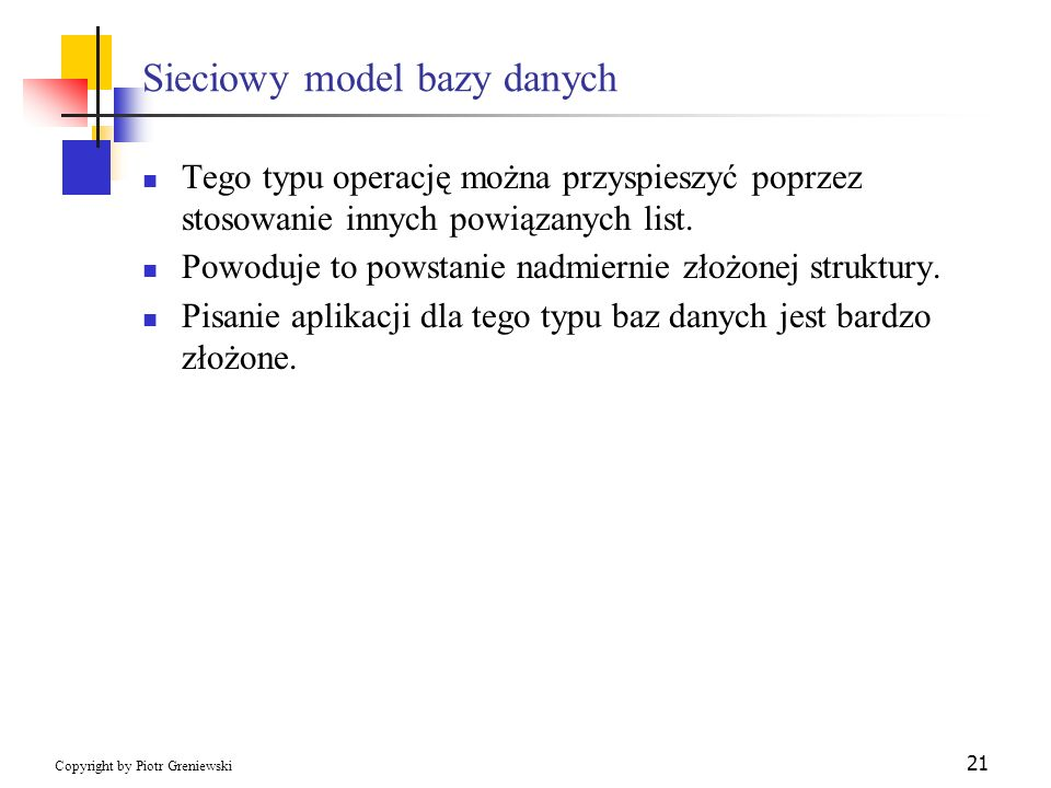Sieciowy model bazy danych