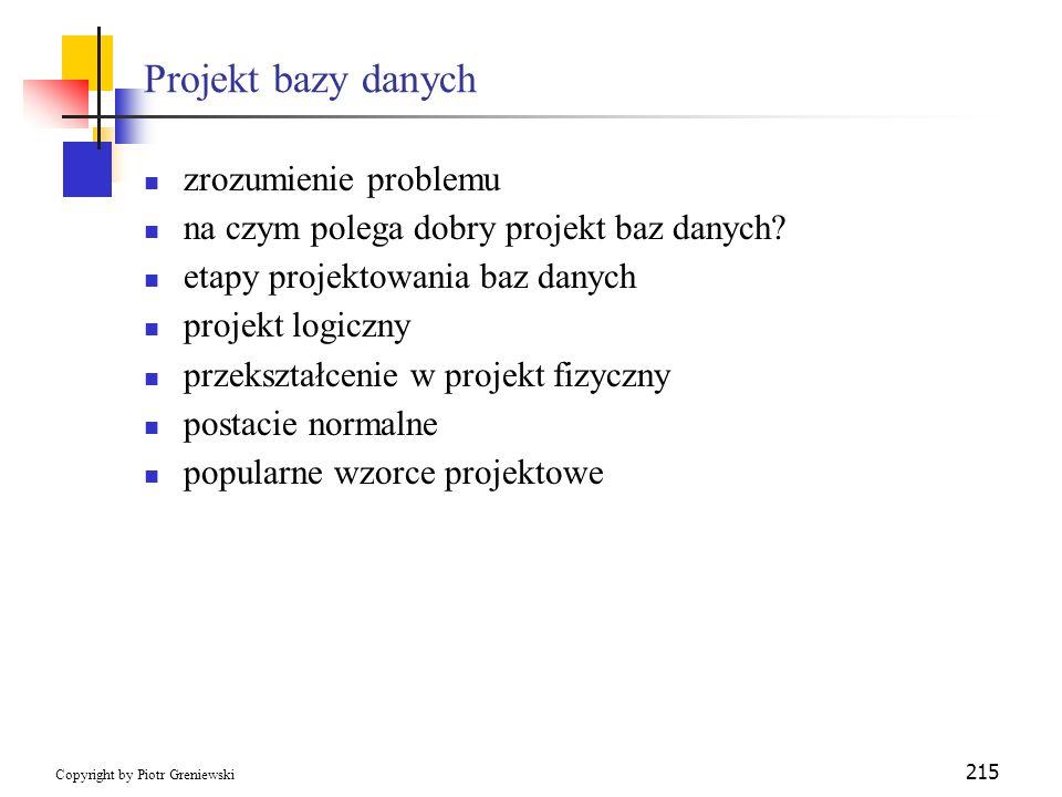 Projekt bazy danych zrozumienie problemu