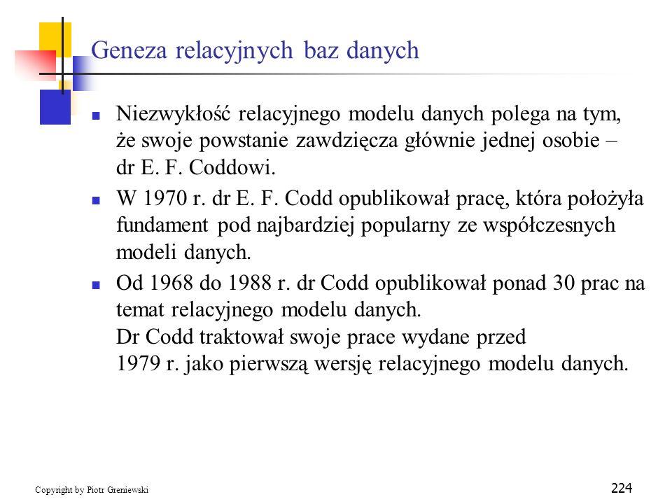 Geneza relacyjnych baz danych