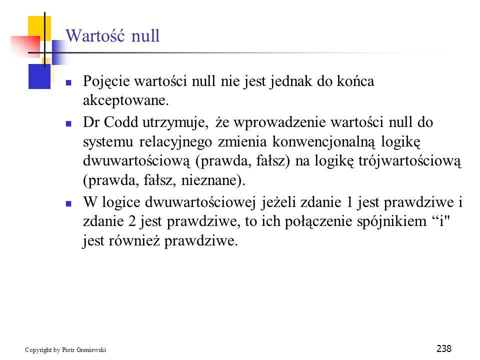 Wartość nullPojęcie wartości null nie jest jednak do końca akceptowane.