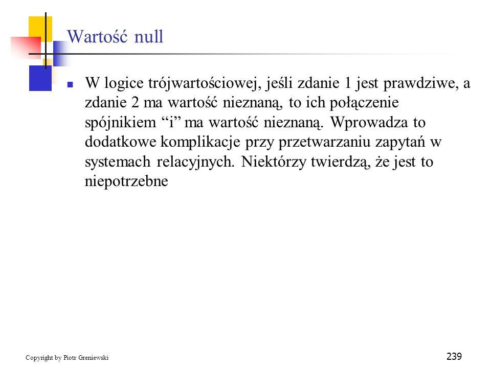 Wartość null