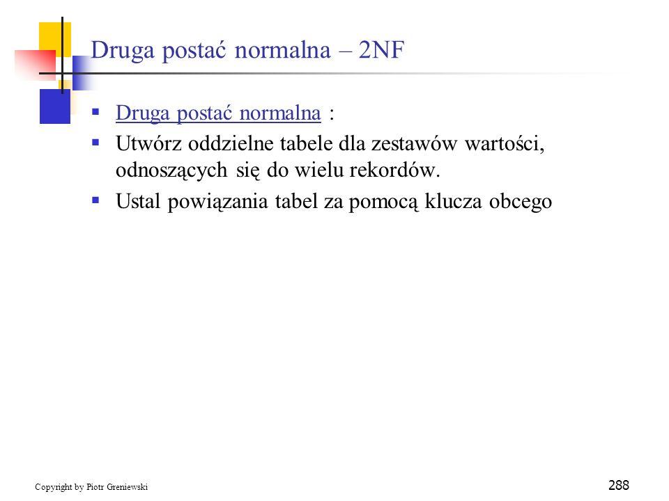 Druga postać normalna – 2NF