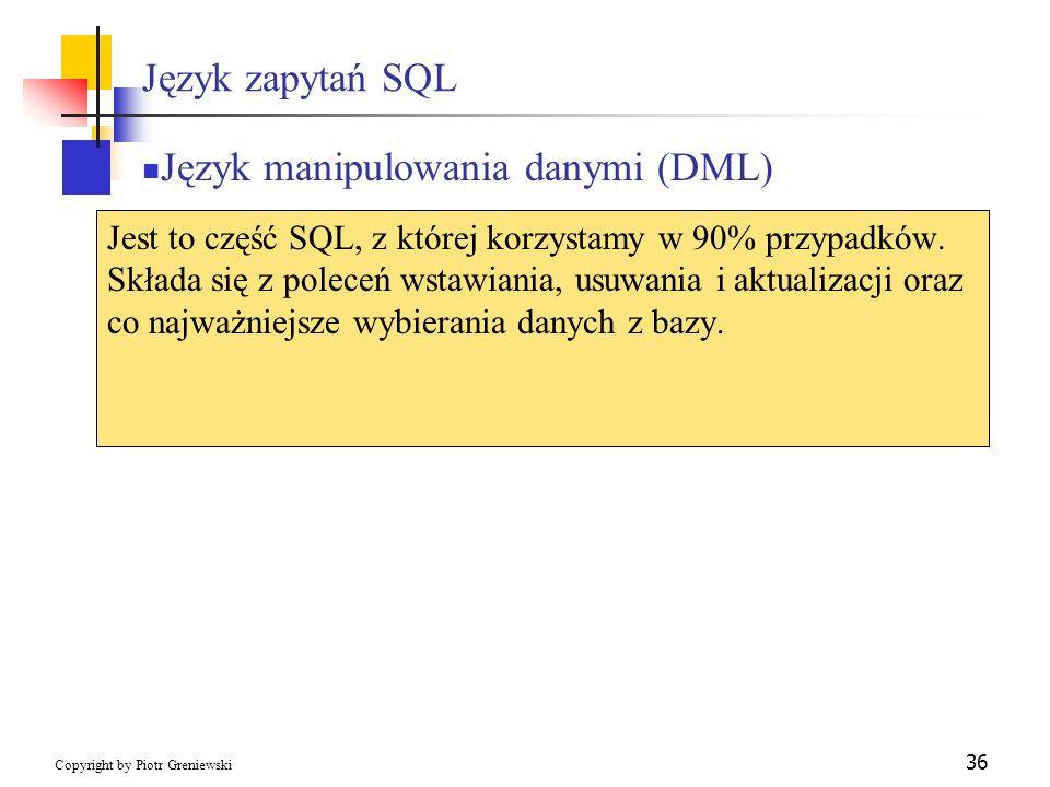 Język manipulowania danymi (DML)