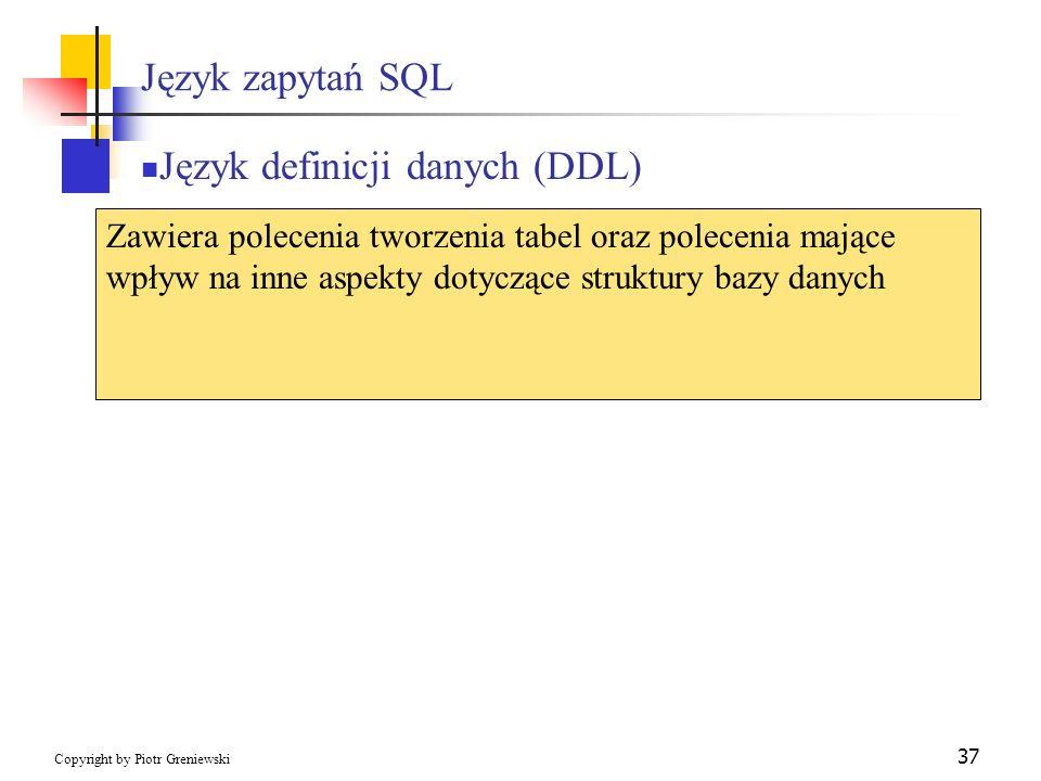 Język definicji danych (DDL)