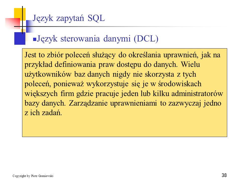 Język sterowania danymi (DCL)