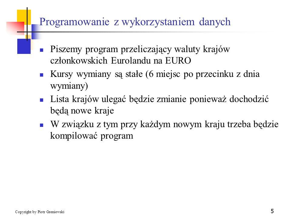 Programowanie z wykorzystaniem danych
