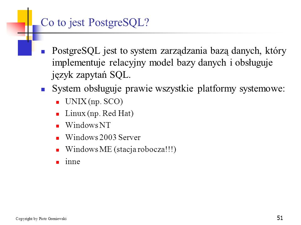 Co to jest PostgreSQL