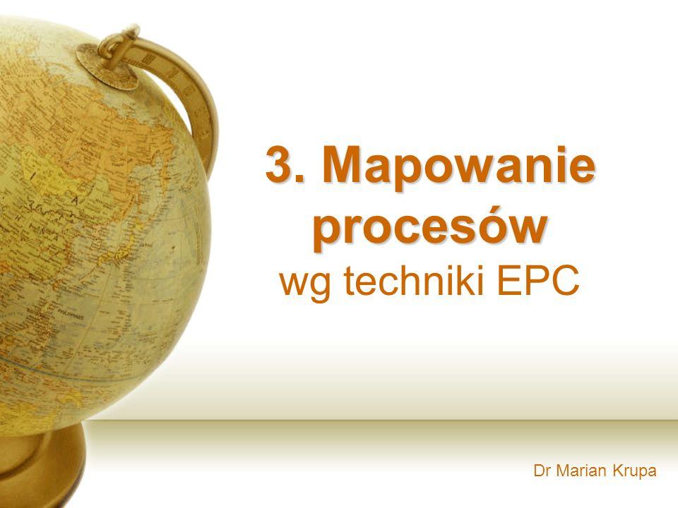 3. Mapowanie procesów wg techniki EPC Dr Marian Krupa