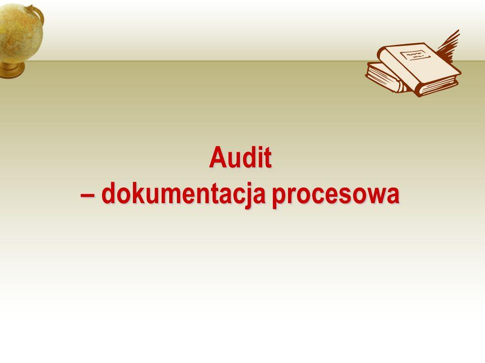 – dokumentacja procesowa
