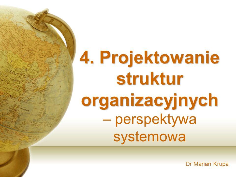 4. Projektowanie struktur organizacyjnych