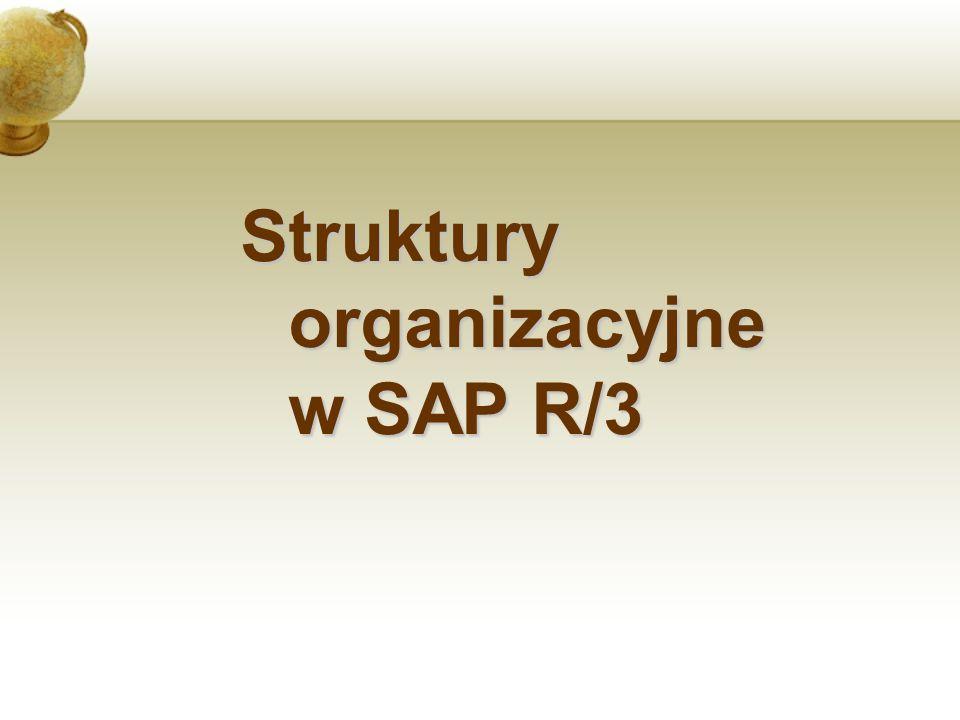 Struktury organizacyjne w SAP R/3