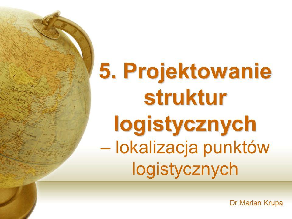 5. Projektowanie struktur logistycznych