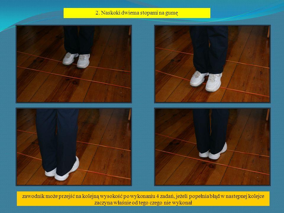 2. Naskoki dwiema stopami na gumę