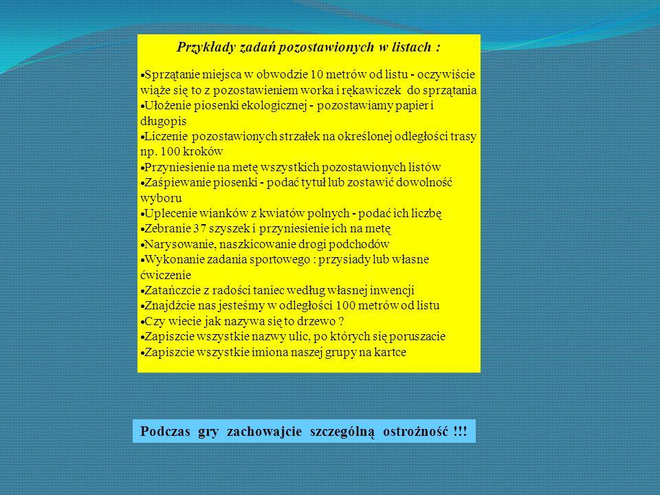 Przykłady zadań pozostawionych w listach :