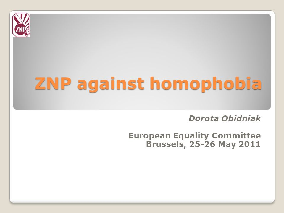 ZNP against homophobia