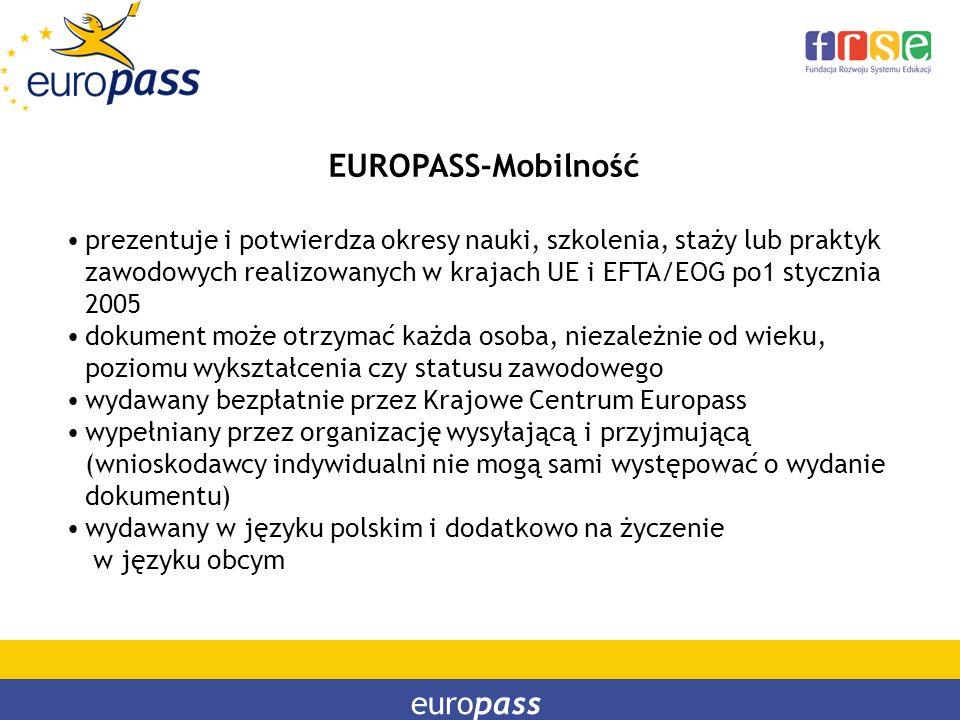 EUROPASS-Mobilność europass