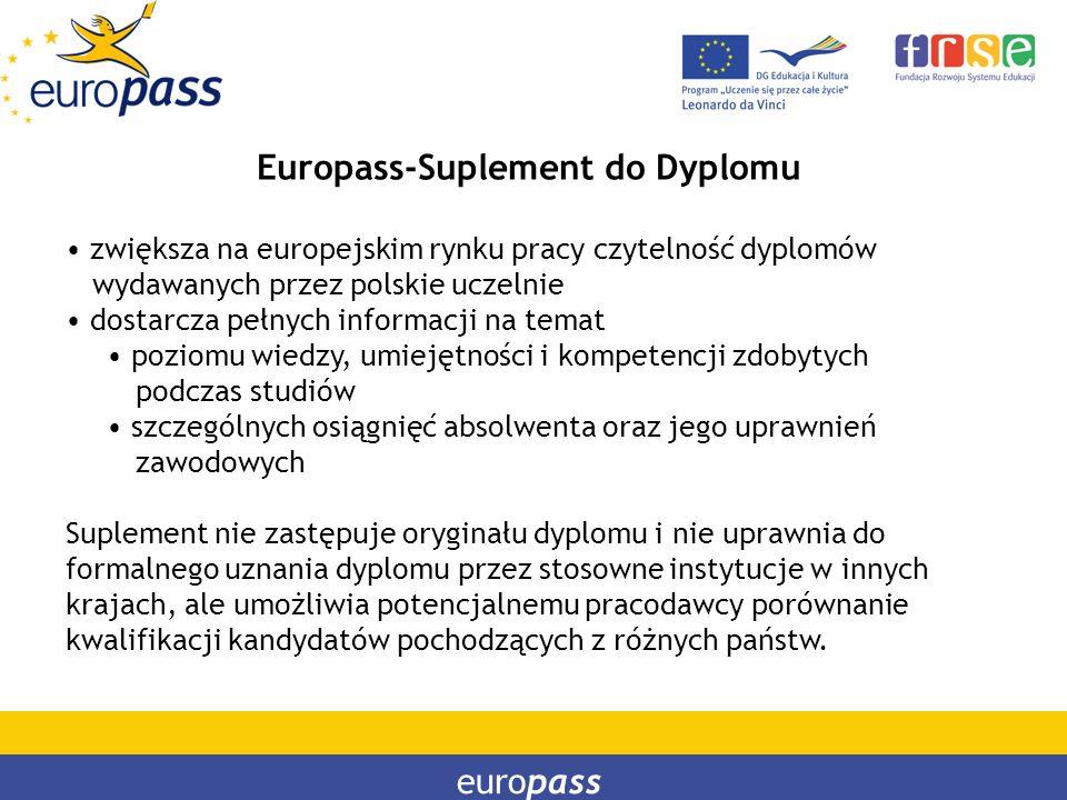 Europass-Suplement do Dyplomu
