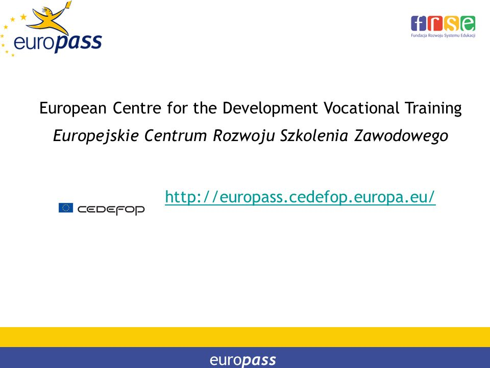 European Centre for the Development Vocational Training