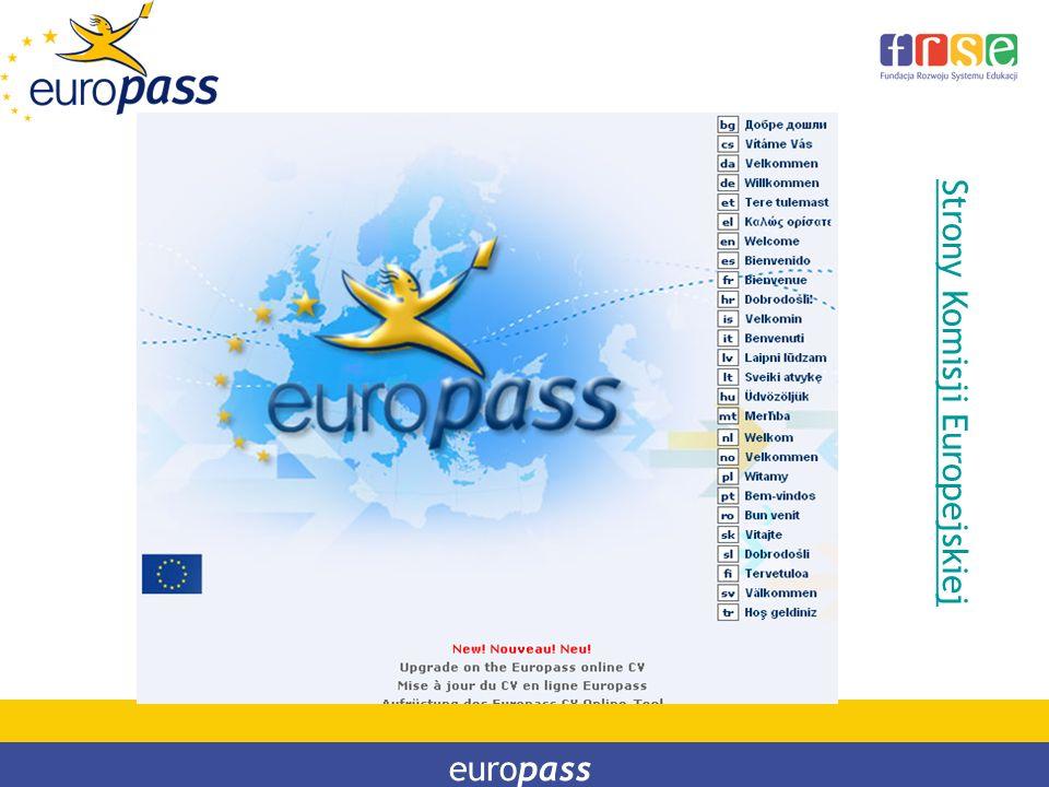 Strony Komisji Europejskiej