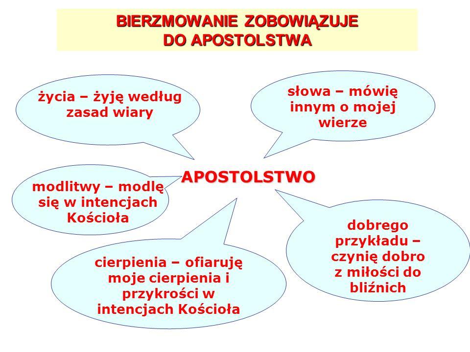 BIERZMOWANIE ZOBOWIĄZUJE DO APOSTOLSTWA