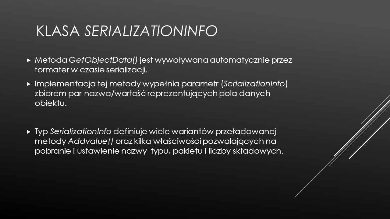 Klasa SerializationInfo