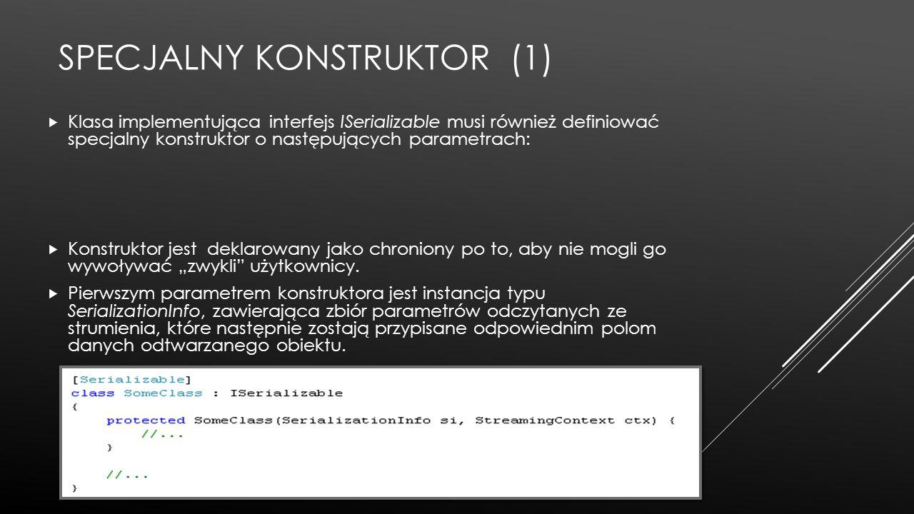 Specjalny konstruktor (1)