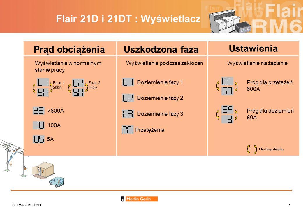 Flair 21D i 21DT : Wyświetlacz
