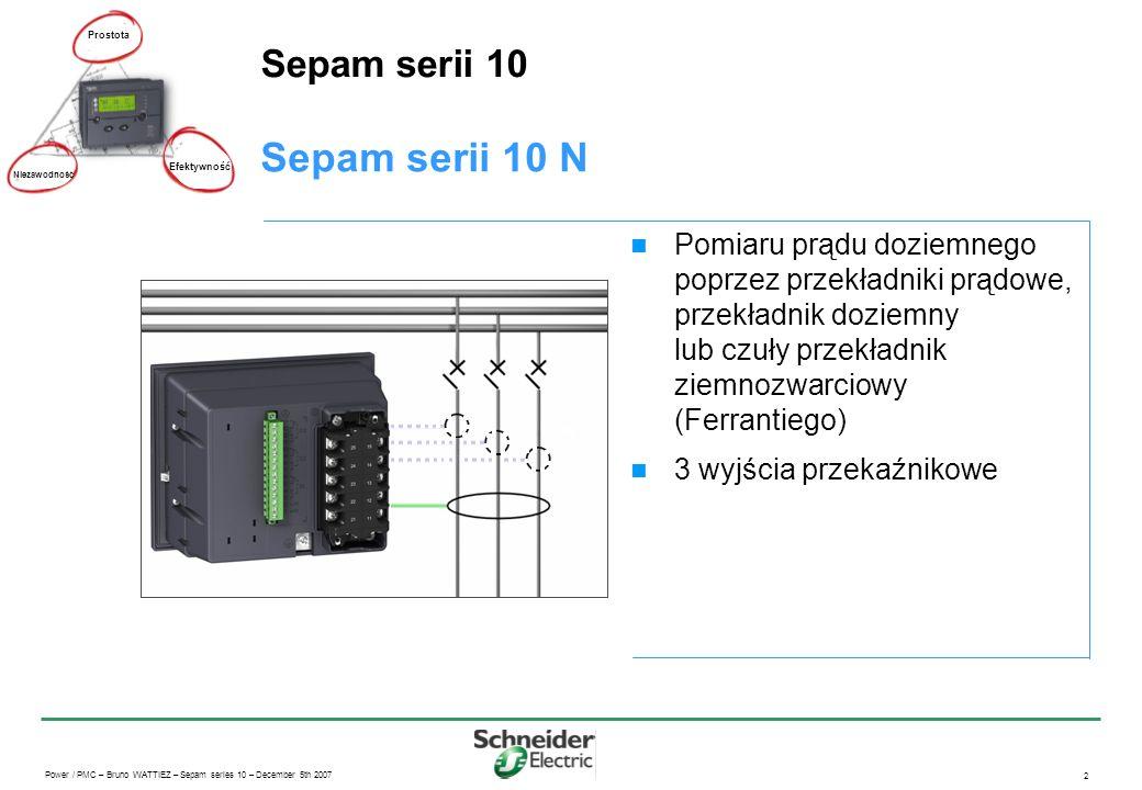 Sepam serii 10 N Sepam serii 10
