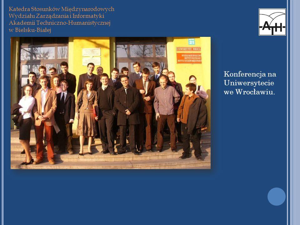 Konferencja na Uniwersytecie we Wrocławiu.