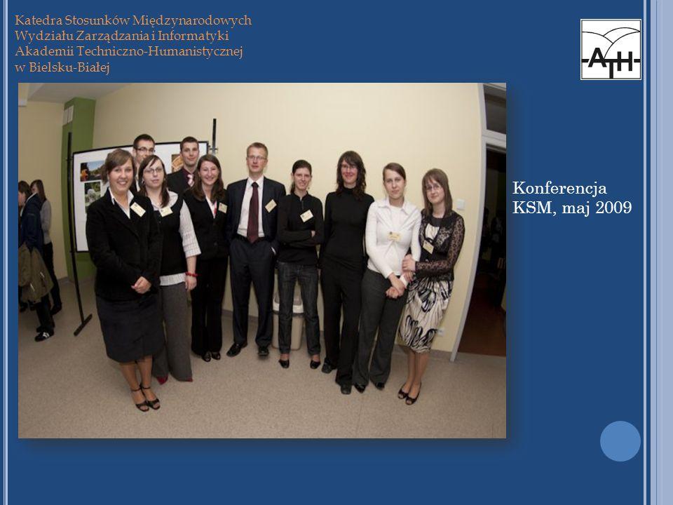 Konferencja KSM, maj 2009 Katedra Stosunków Międzynarodowych