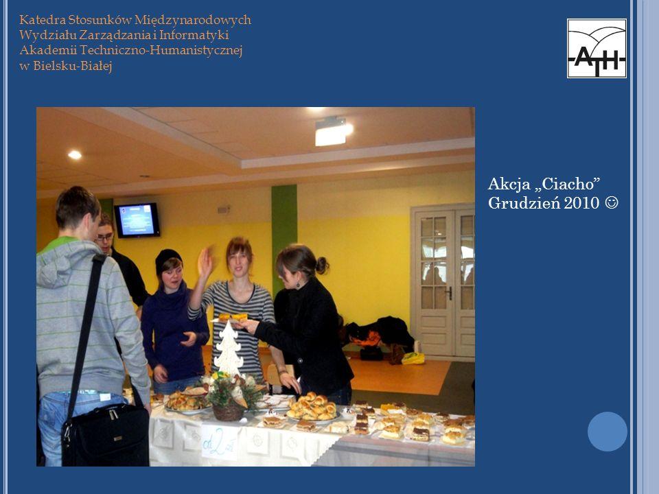 """Akcja """"Ciacho Grudzień 2010  Katedra Stosunków Międzynarodowych"""