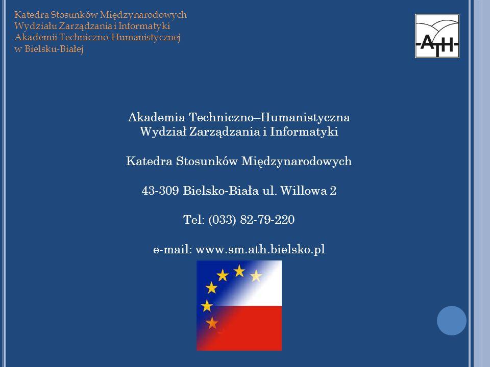 Akademia Techniczno–Humanistyczna Wydział Zarządzania i Informatyki