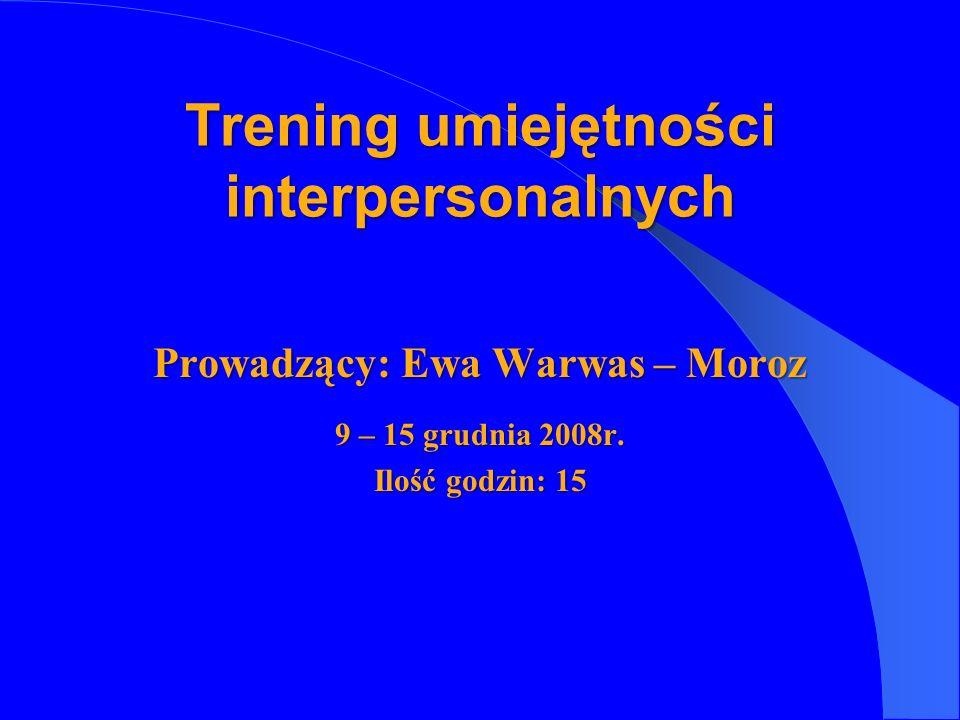 Trening umiejętności interpersonalnych