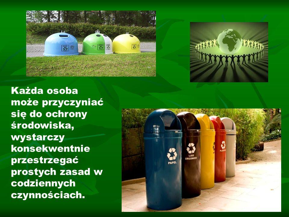 Każda osoba może przyczyniać się do ochrony środowiska, wystarczy konsekwentnie przestrzegać prostych zasad w codziennych czynnościach.