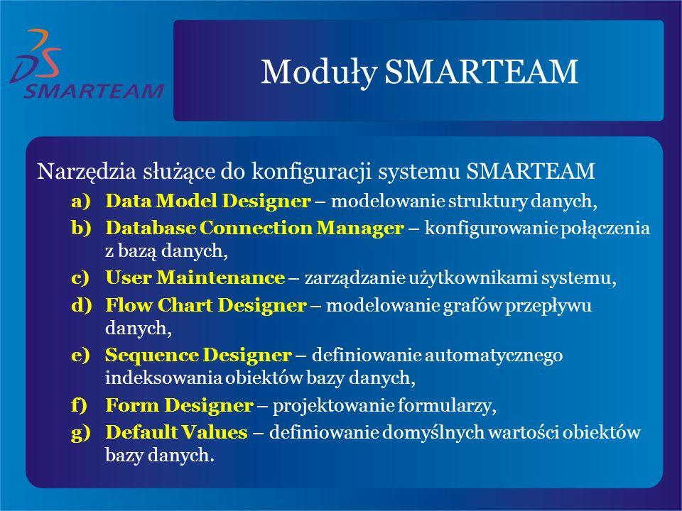 Moduły SMARTEAM Narzędzia służące do konfiguracji systemu SMARTEAM