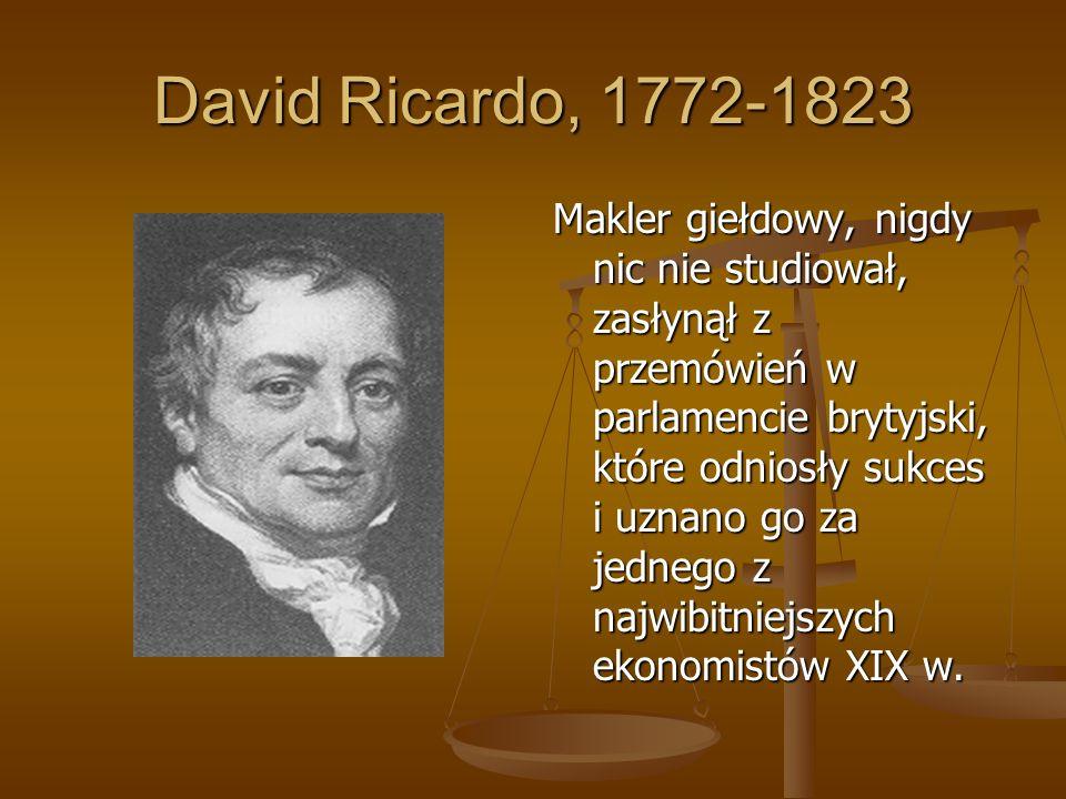 David Ricardo, 1772-1823