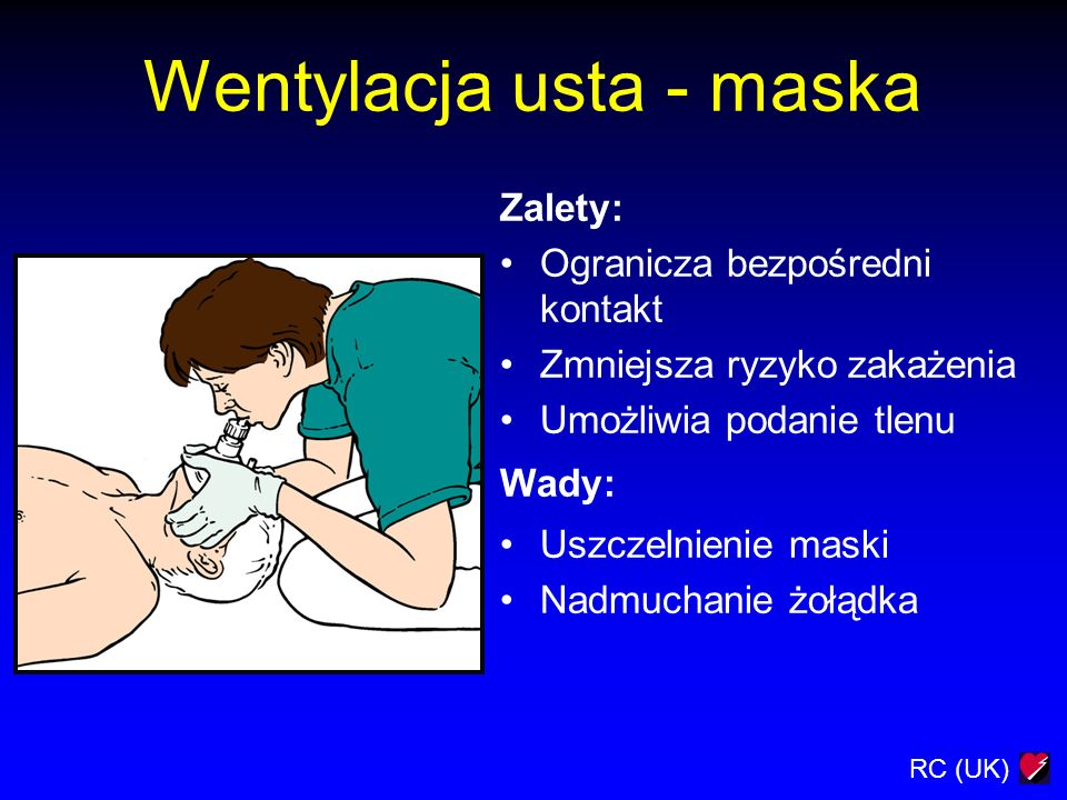 Wentylacja usta - maska