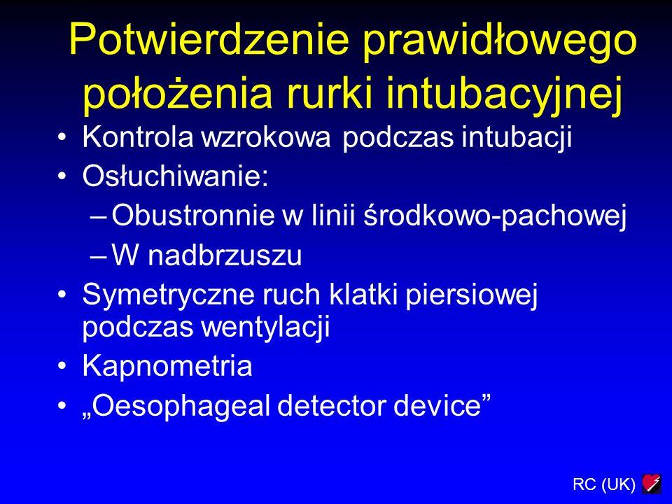 Potwierdzenie prawidłowego położenia rurki intubacyjnej