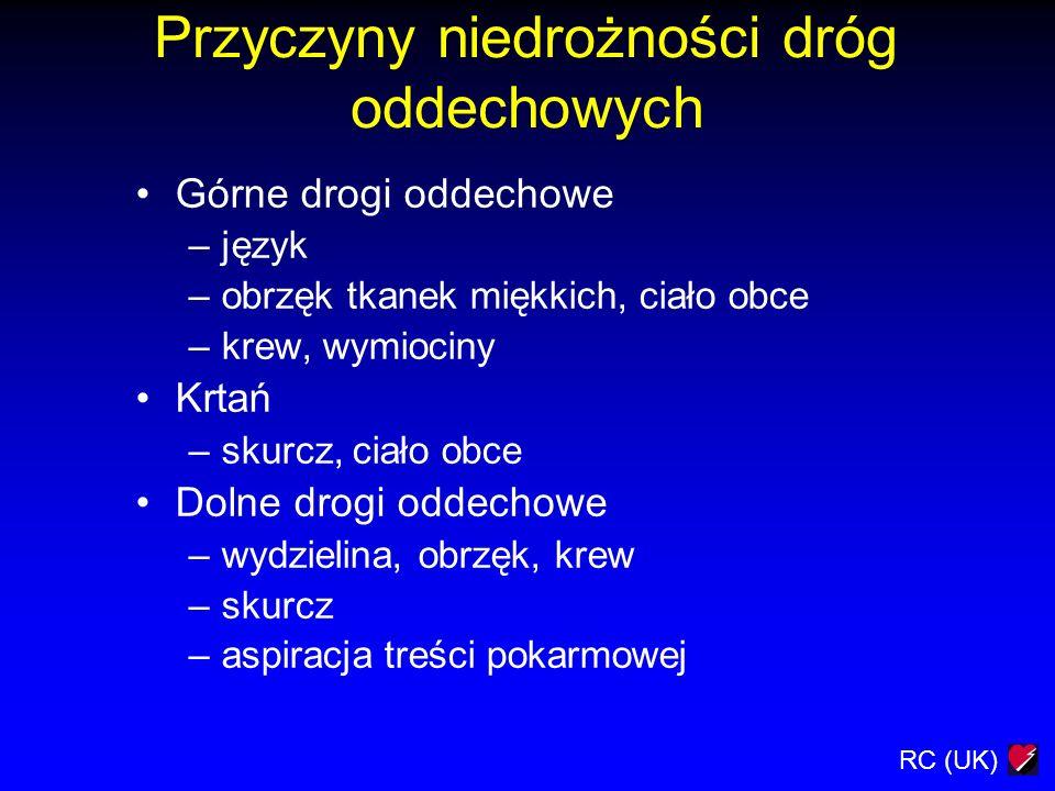 Przyczyny niedrożności dróg oddechowych