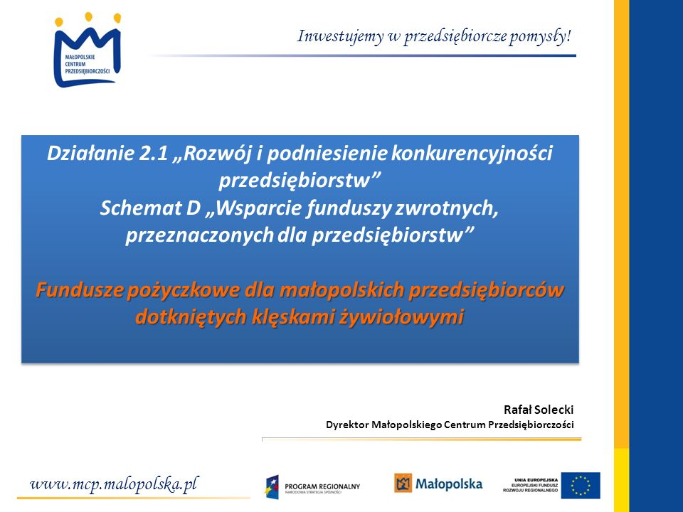 Fundusze pożyczkowe dla małopolskich przedsiębiorców