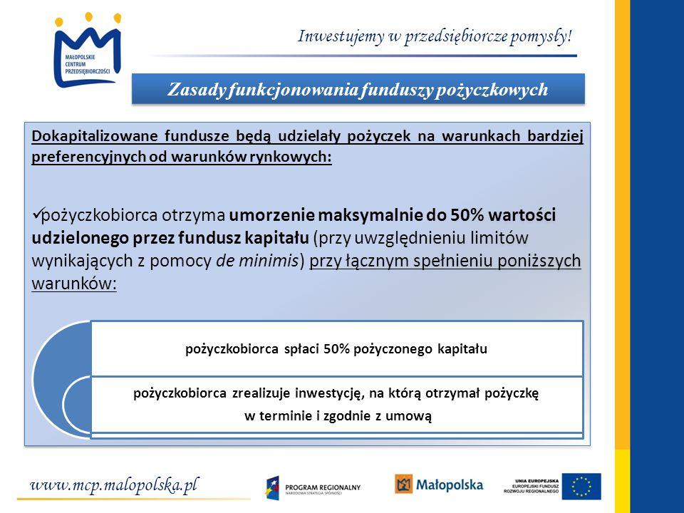 Zasady funkcjonowania funduszy pożyczkowych