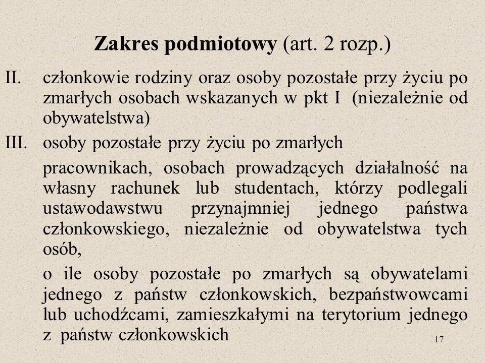 Zakres podmiotowy (art. 2 rozp.)