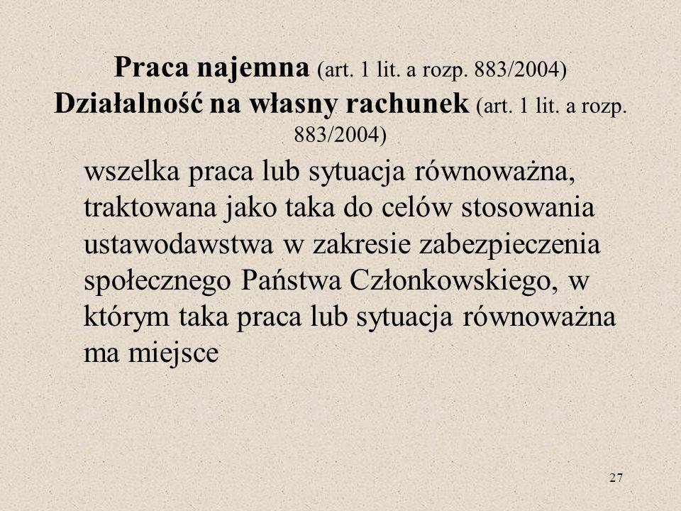 Praca najemna (art. 1 lit. a rozp