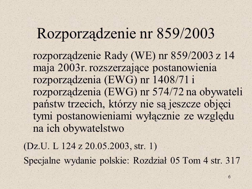 Rozporządzenie nr 859/2003